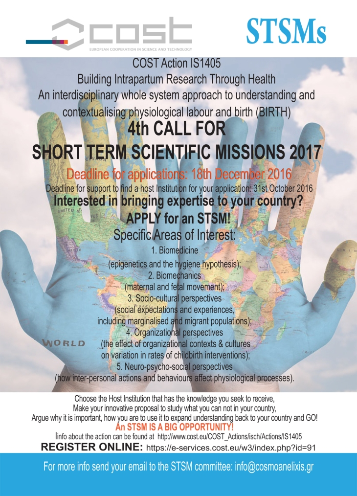 4th CALL fOR ShORT TERM SCIENTIfIC MISSIONS 2017